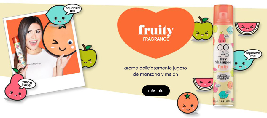 champu seco colab fruity