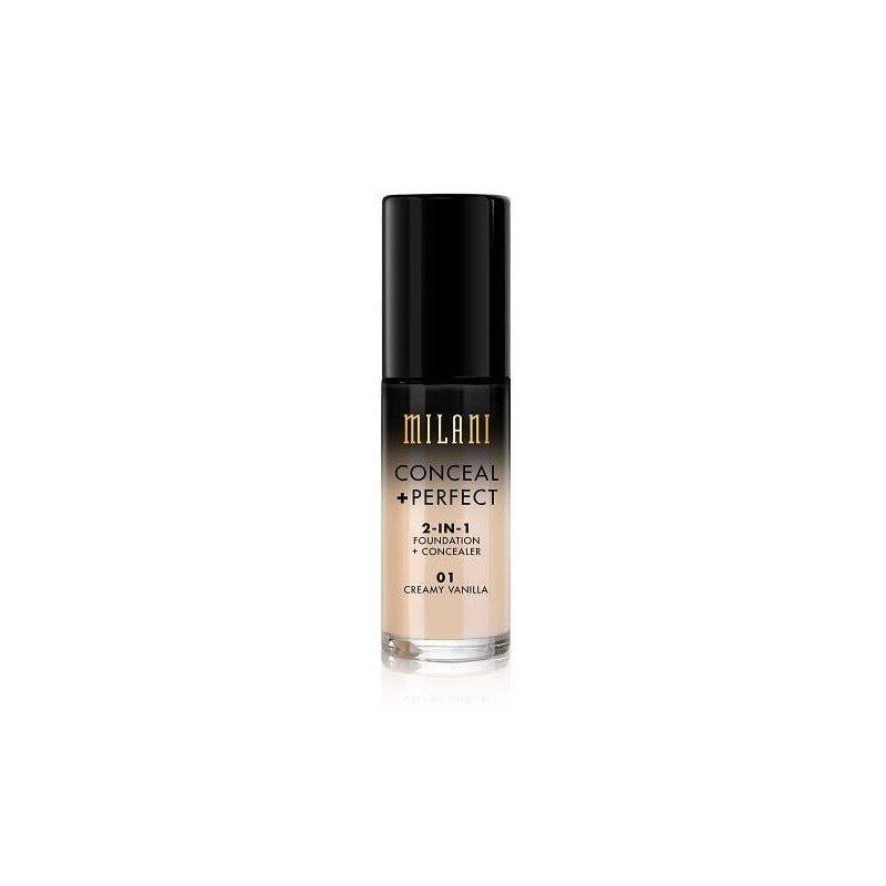 Milani - Conceal + Perfect 2 in 1 Foundation + Concealer - 01 Creamy Vanilla